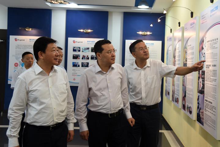省委常委、统战部部长尔肯江·吐拉洪调研安琪集团