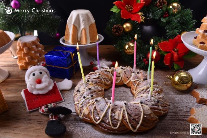 安琪圣诞花环面包培训