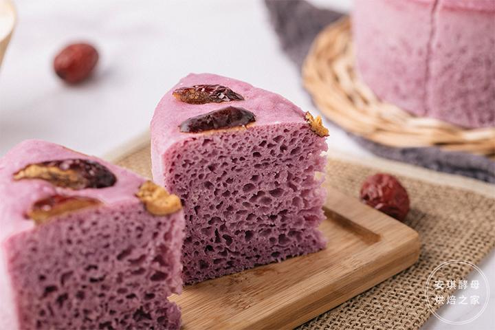 加了紫薯的发糕居然比馒头还简单,比蛋糕还好吃!