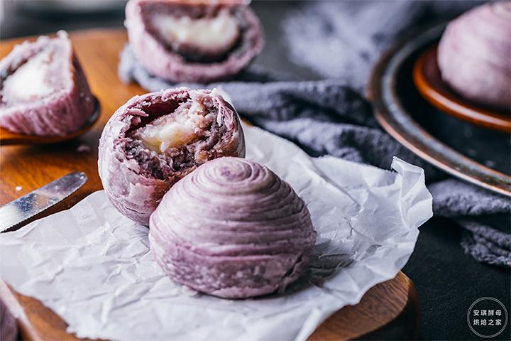 台湾日售10000份的麻薯香芋酥,比网红还红,酥透你的心