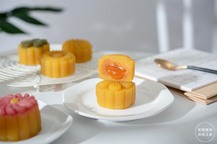 一揉,一捏,一按,颜值顶流的桃山月饼就这么简单