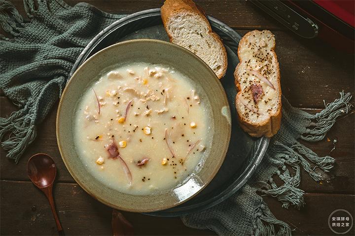 自己在家也能做的奶油蘑菇汤,快手还美味,因为加了它?